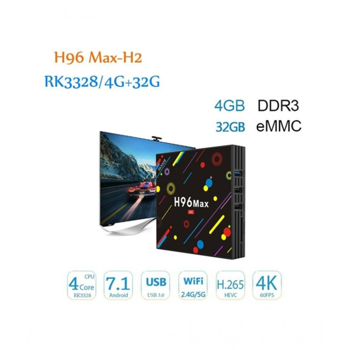 Corporate Traders H96 MAX-H2 4K Andriod TV Box