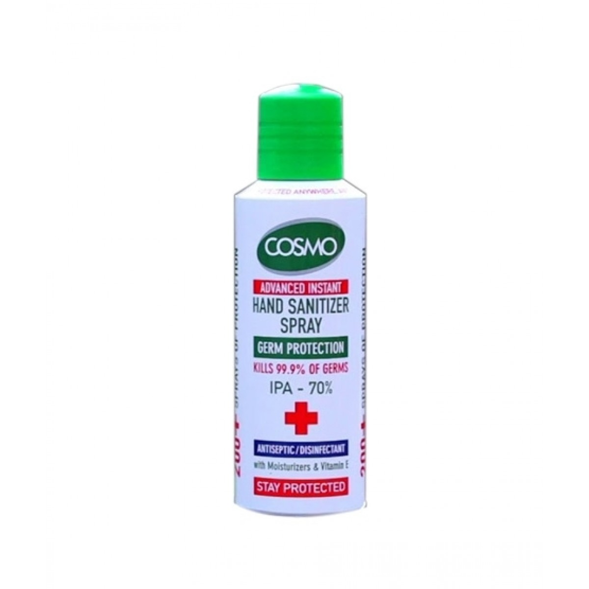 Cosmo Advanced Instant Disinfectant Hand Sanitizer Spray 200ml (70% Alcohol ISO Certified)