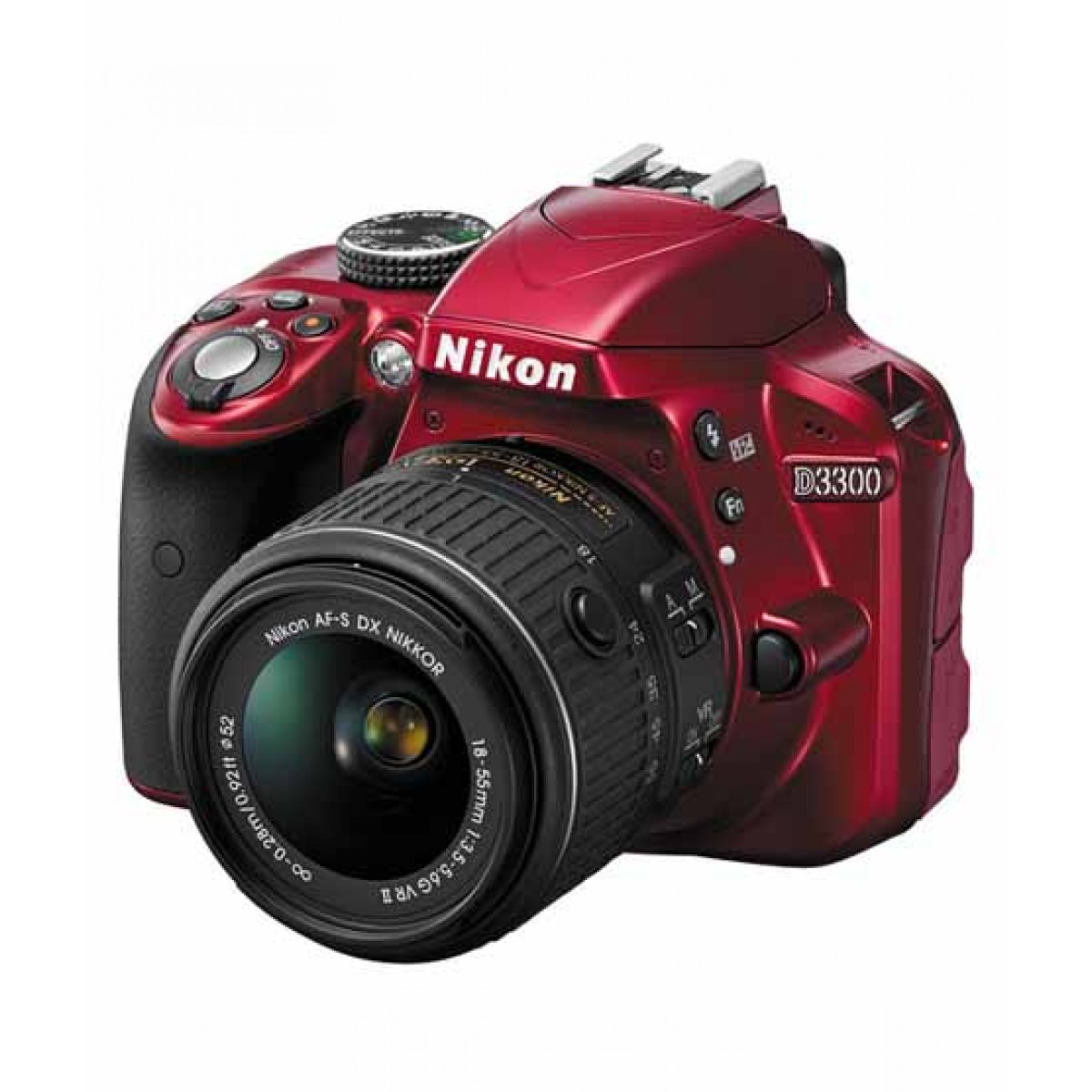 Nikon D3300 DSLR Camera with 18-55mm NVR Lens Red