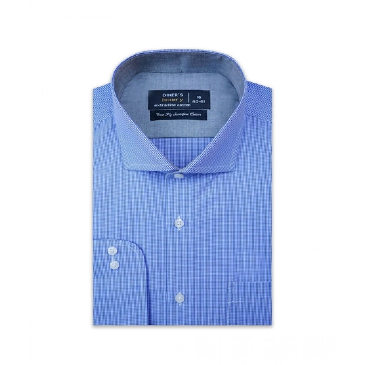 Diners Long Sleeves Formal Shirt For Men Blue (AD21263)