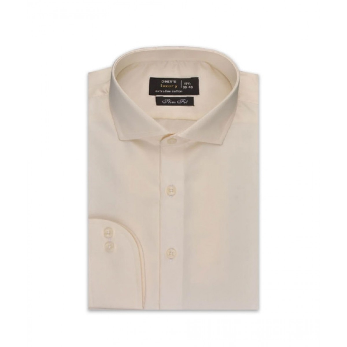 Diners Long Sleeves Formal Shirt For Men Cream (AD5074)
