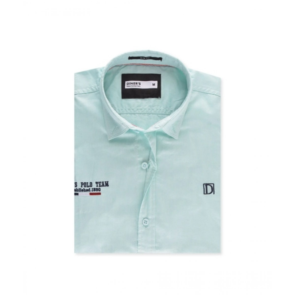 Diners Long Sleeves Casual Shirt For Men L-Green (AG18061)