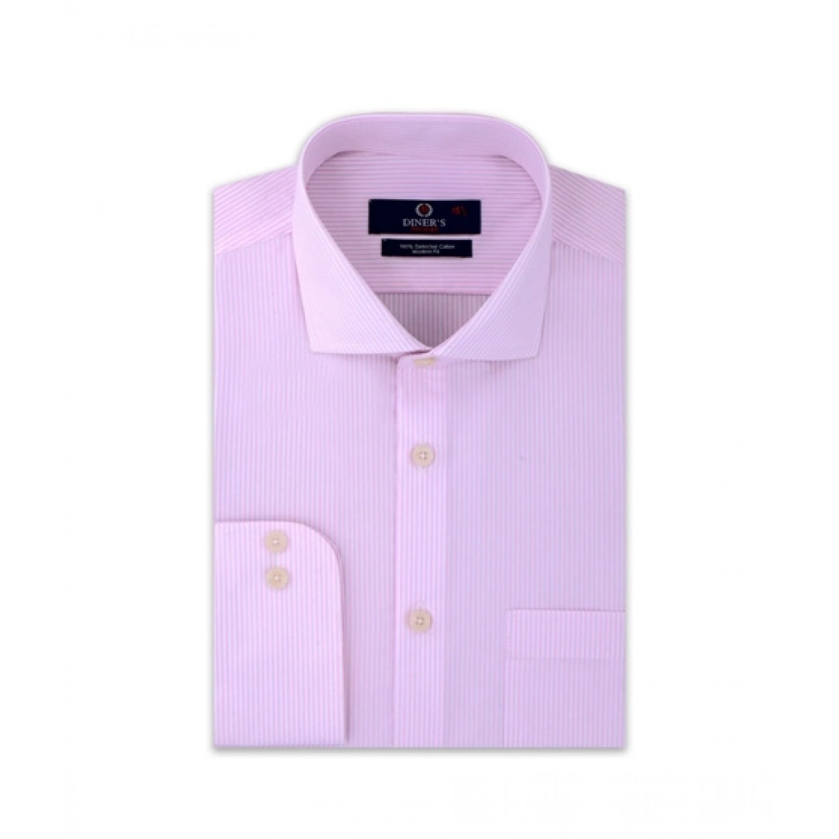 Diners Long Sleeves Formal Shirt For Men Pink (AH20356)