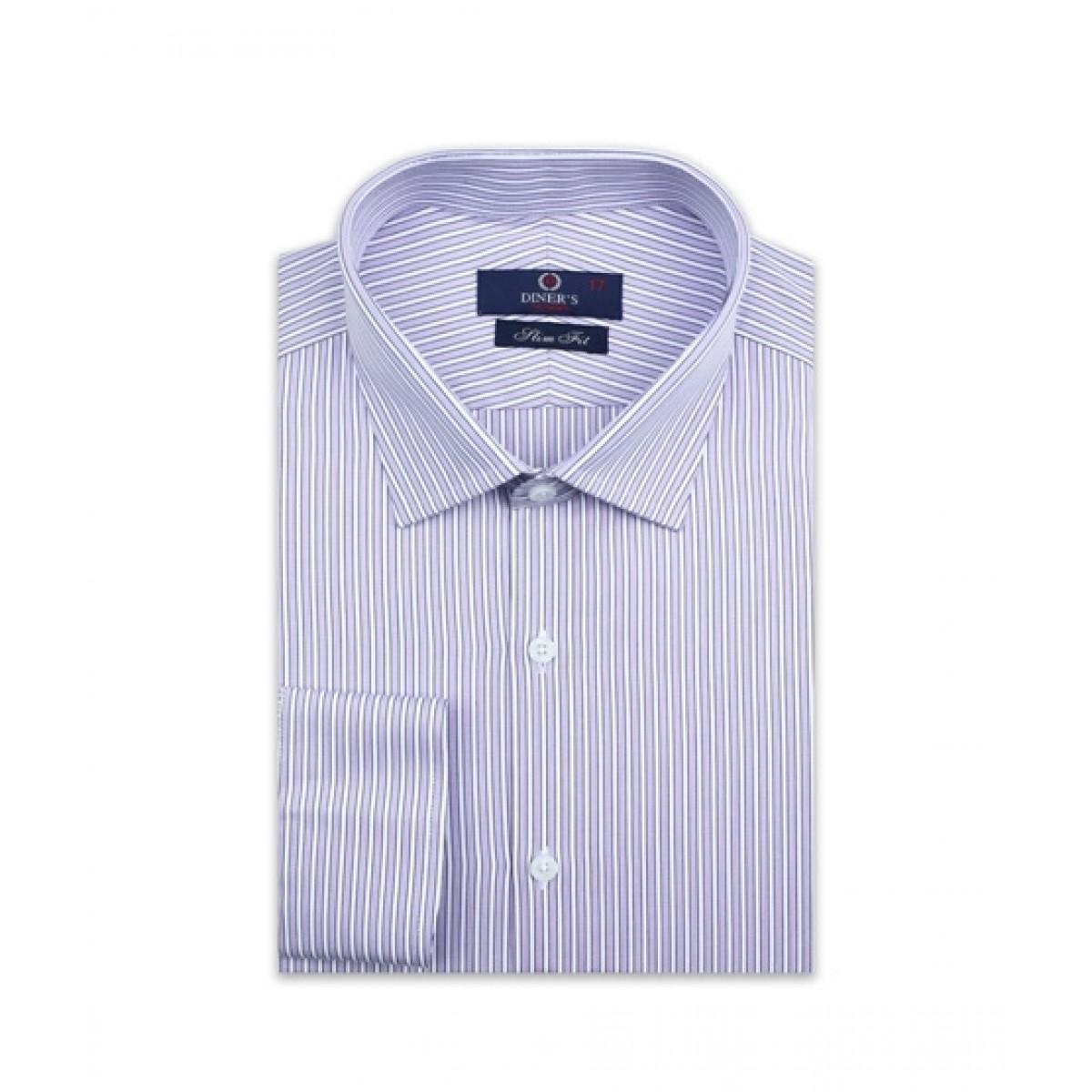 Diners Long Sleeves Formal Shirt For Men Purple (AH19334)