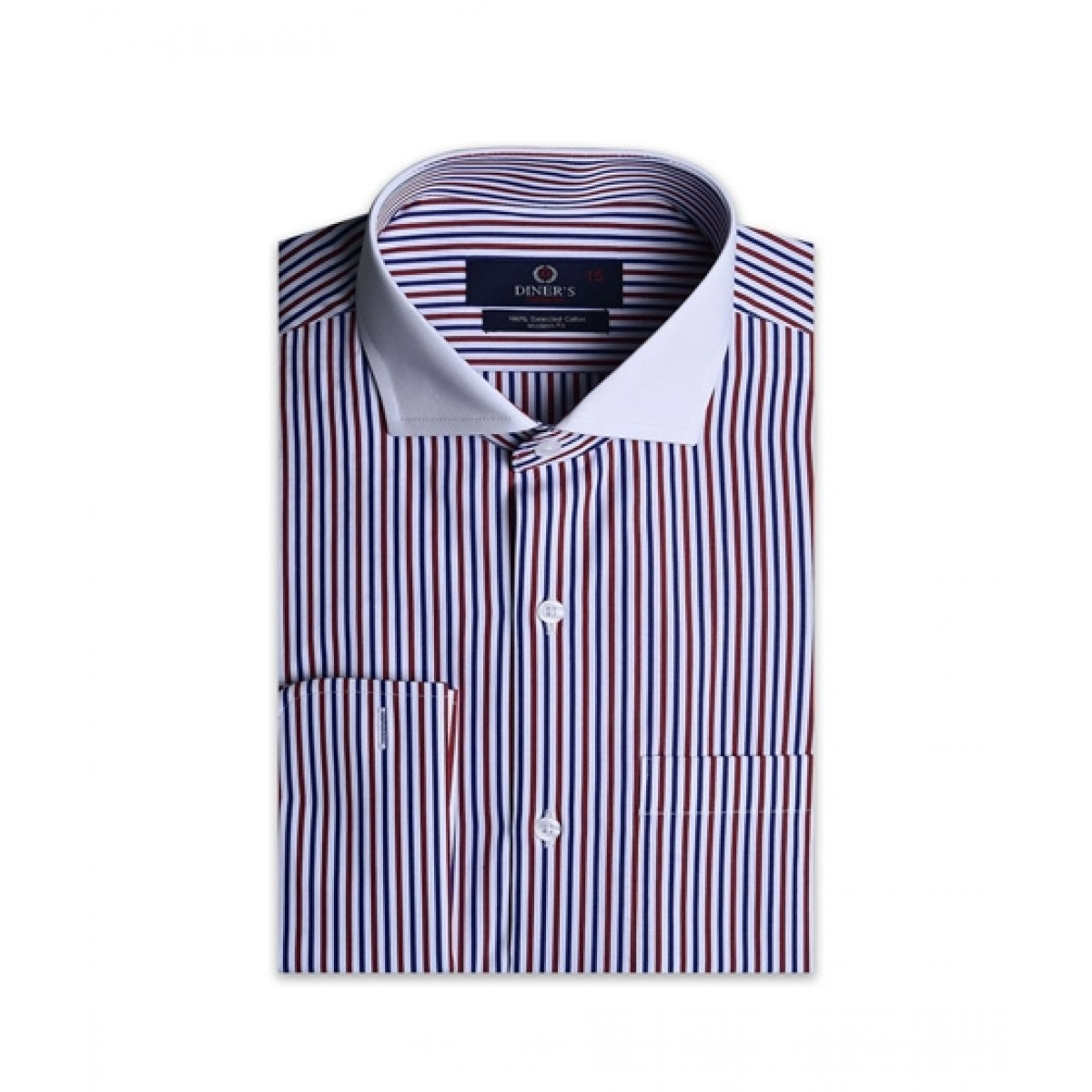 Diners Long Sleeves Formal Shirt For Men Red (AH19338)