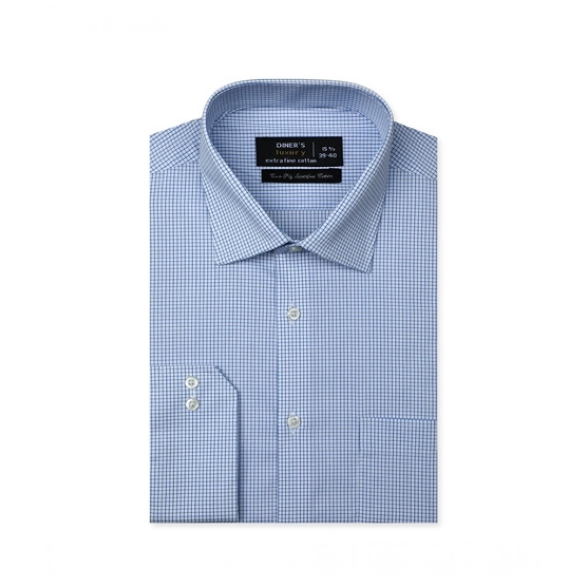 Diners Long Sleeves Formal Shirt For Men Sky Blue (AD20528)