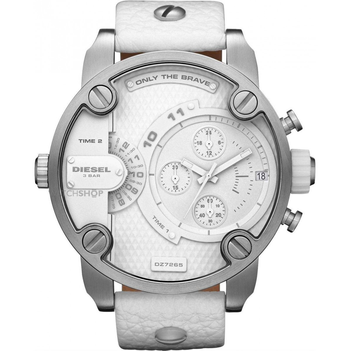 Diesel DZ7265 SBA All White Super Bad Jump Hour Chrono