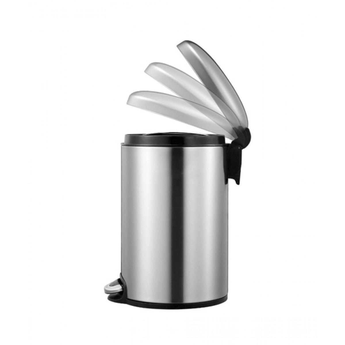 Eko Maggey Step Bin 5 Liter Silver (EK9213-5L)