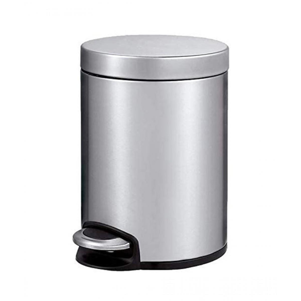 Eko Serene Step Bin 5 Liter Silver (EK9215MT-5L)