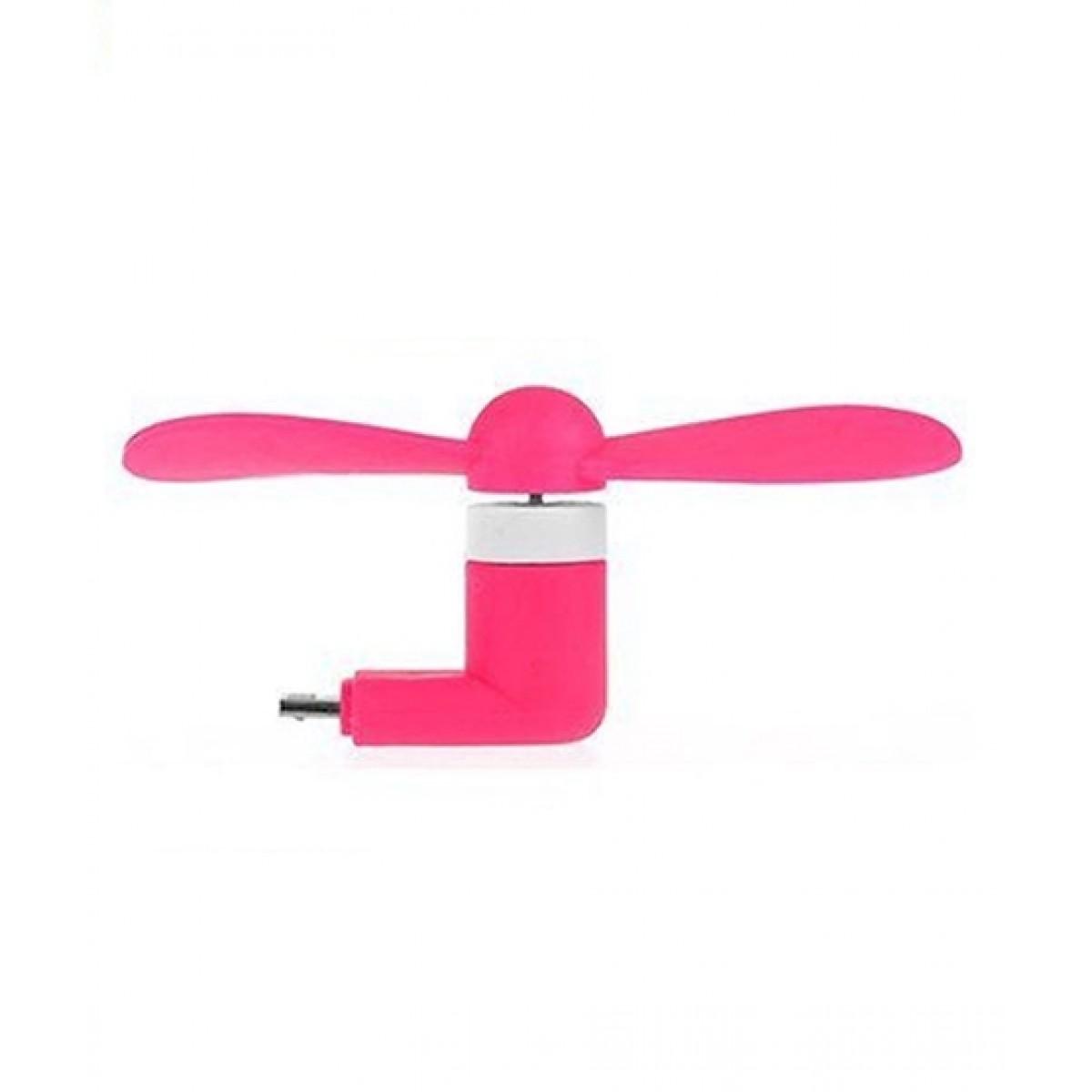 F.A Communications Mini Micro USB OTG Cooling Fan Pink