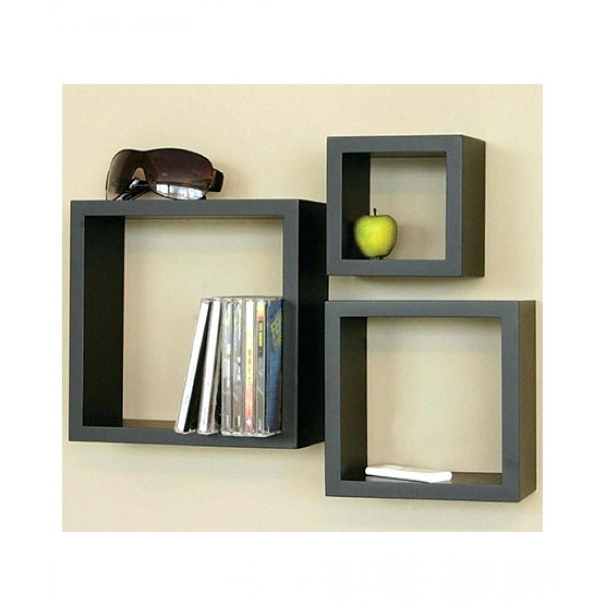 Fashion Nova Mart Decorative Wall Shelf Black