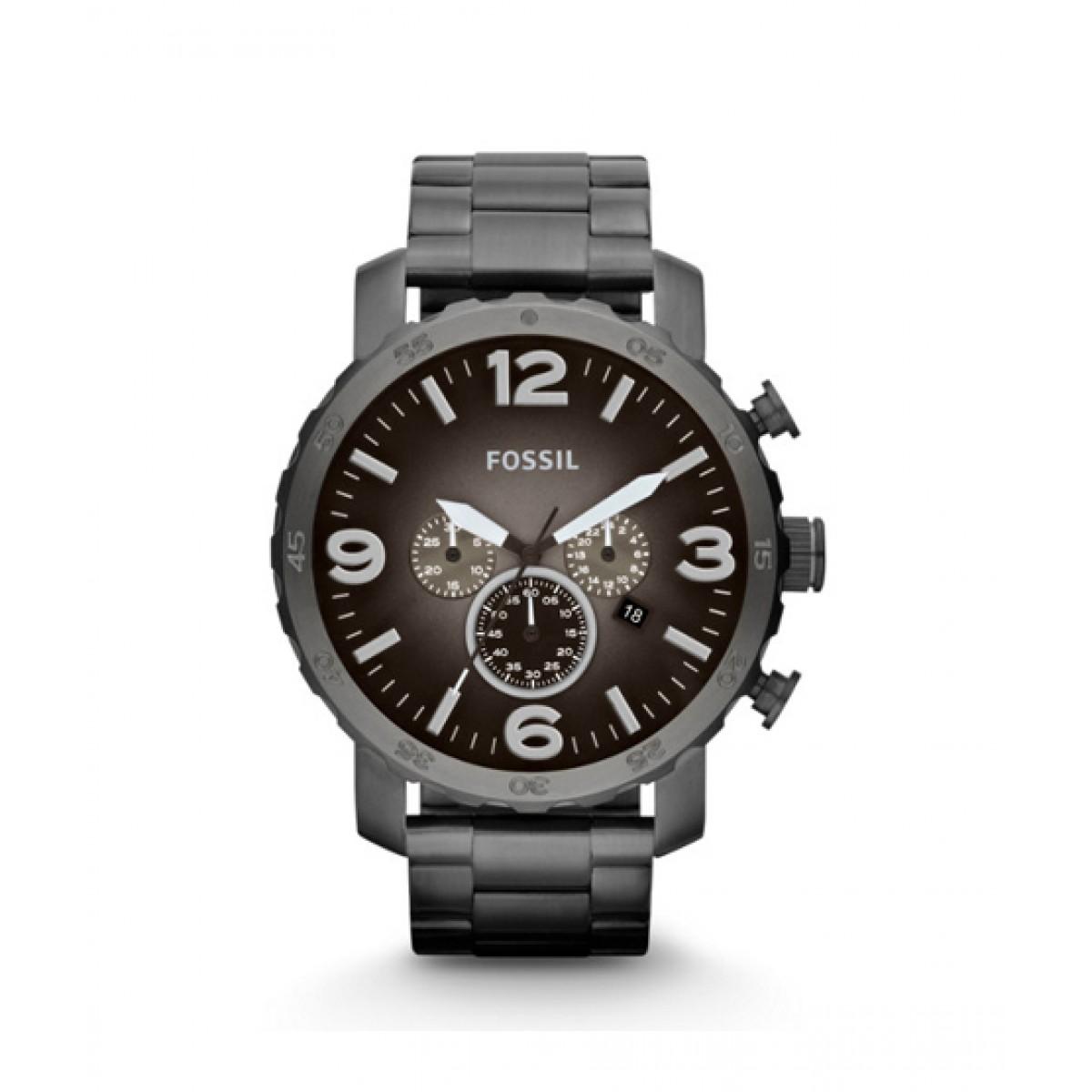 Fossil Nate Chronograph Men's Watch Grey (JR1437P)