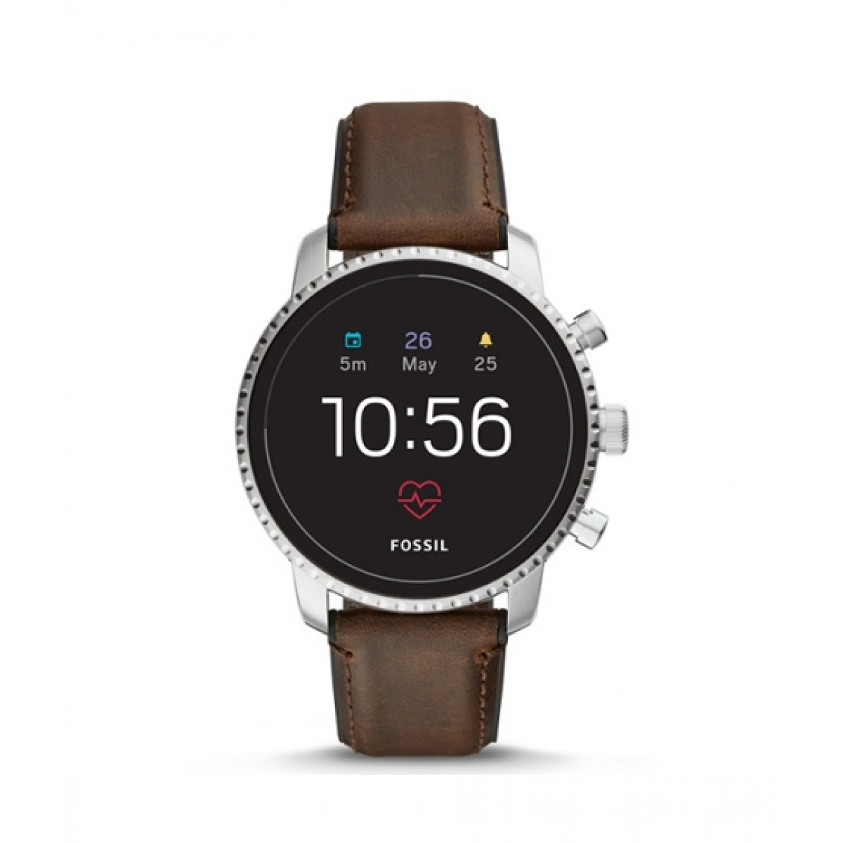 Fossil Q Explorist Gen 4 Smartwatch Brown Leather (FTW4015P)