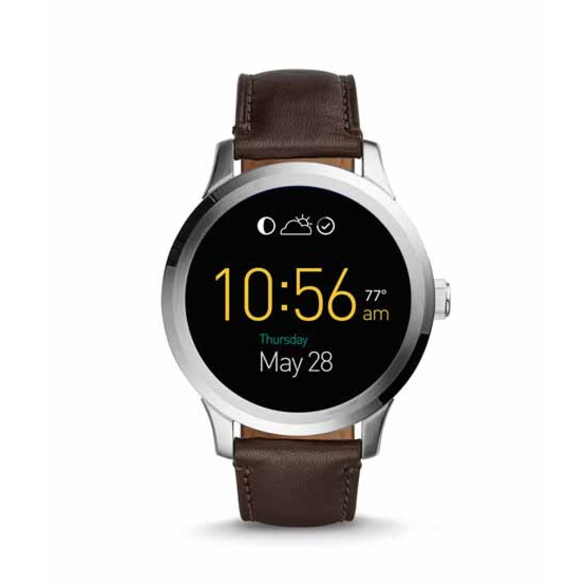 Fossil Q Founder Digital Display Brown Leather Men's Watch (FTW20011P)