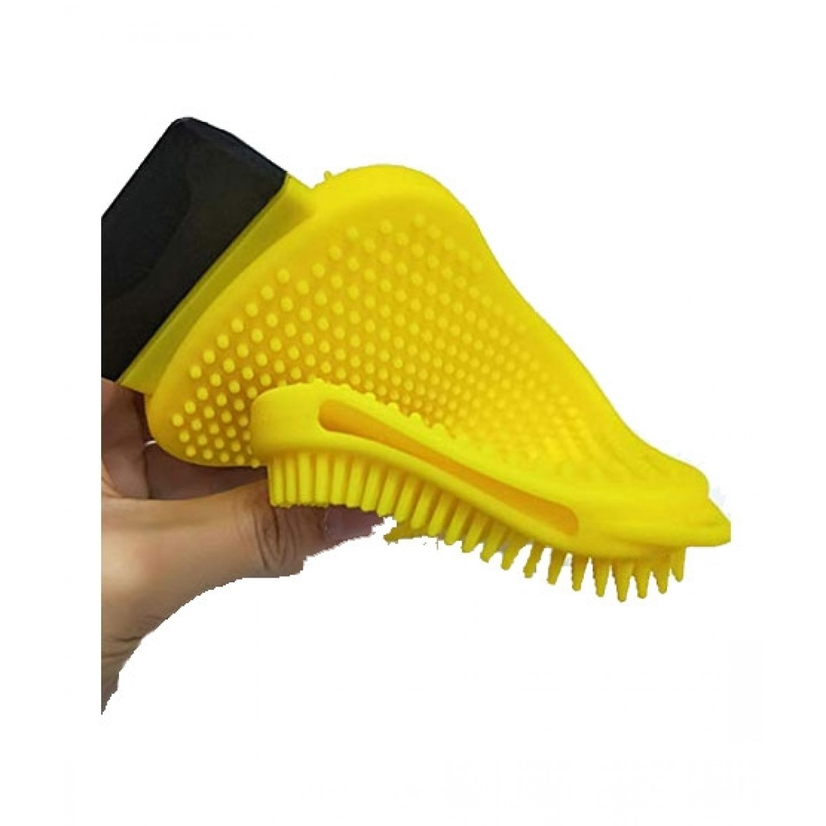 G-Mart 3 In 1 Dish washing Silicone Sponge For Kitchen Yellow
