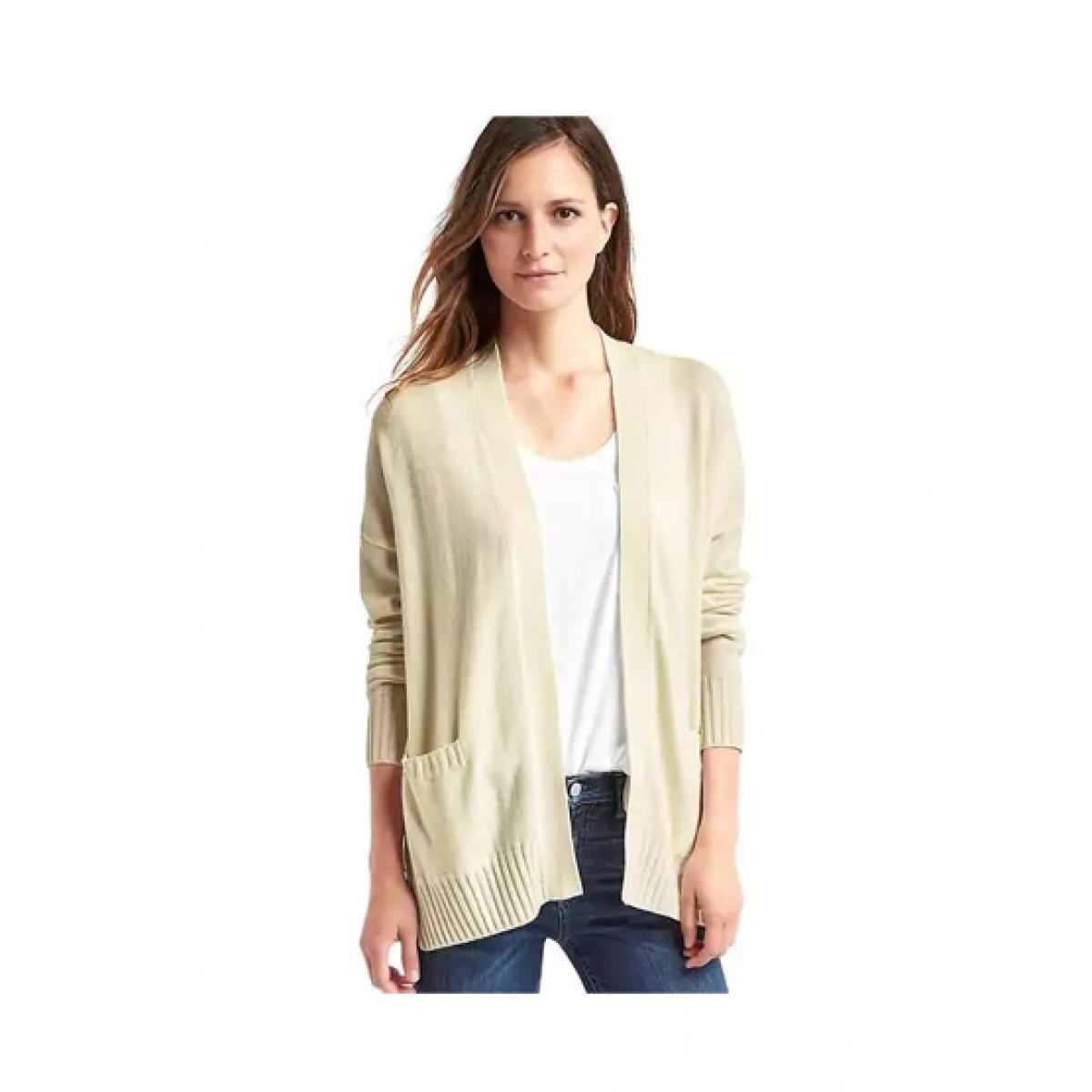 f766c9ee0642d4 Gap Open Cardigan Women's Sweater Price in Pakistan   Buy Gap Merino Wool  Blend Open Sweater Cream   iShopping.pk