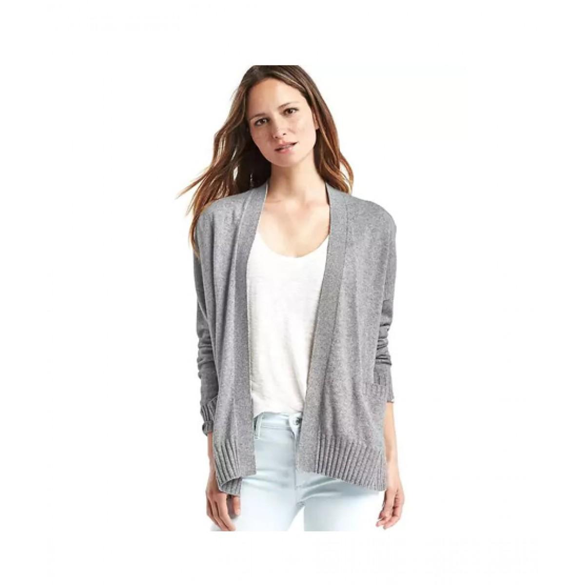 90c75bf69754df Gap Open Cardigan Women's Sweater Price in Pakistan   Buy Gap Merino Wool  Blend Open Sweater Heather Grey   iShopping.pk