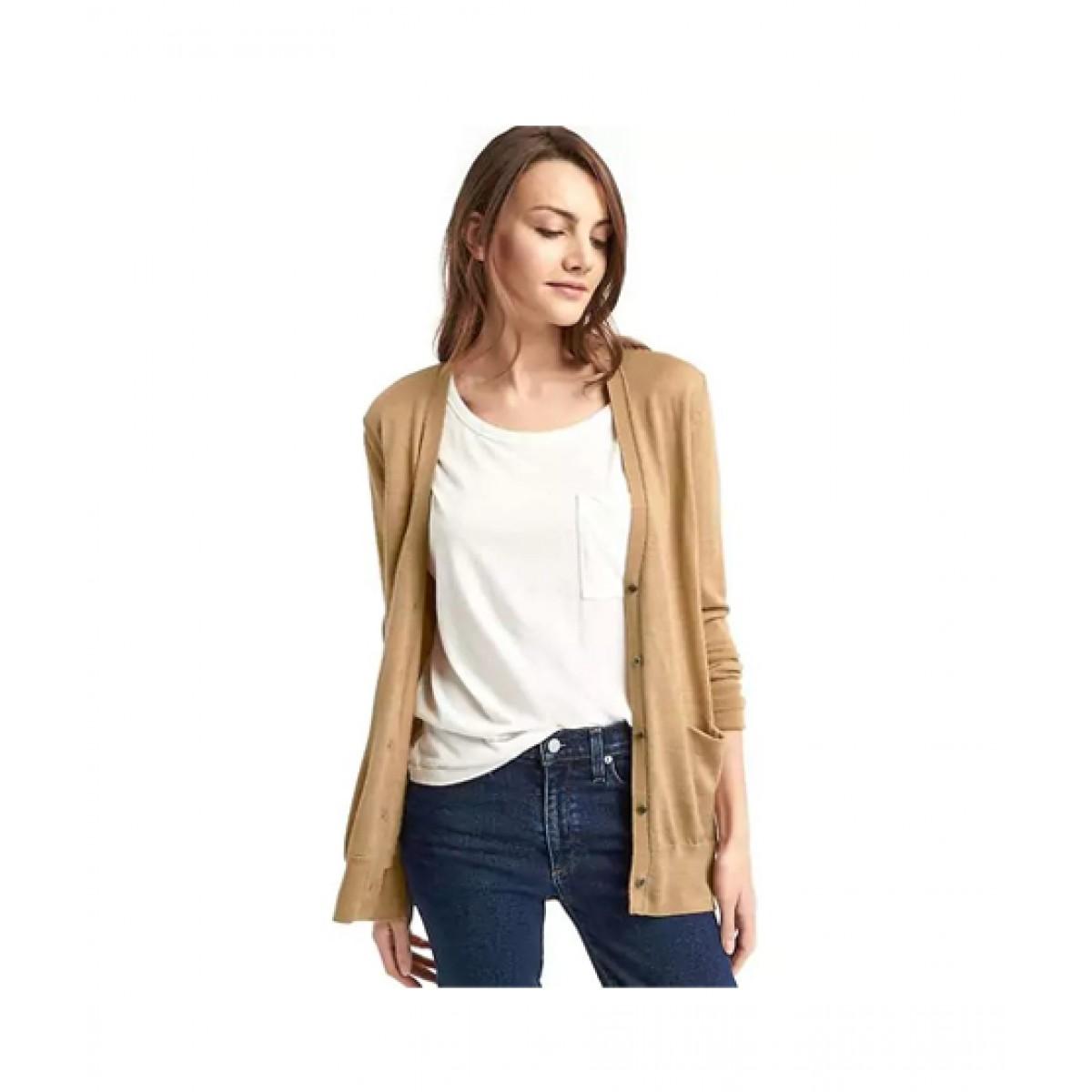 bada24188287fa Gap Wool Cardigan Women's Sweater Price in Pakistan   Buy Gap Merino Sweater  Camel   iShopping.pk
