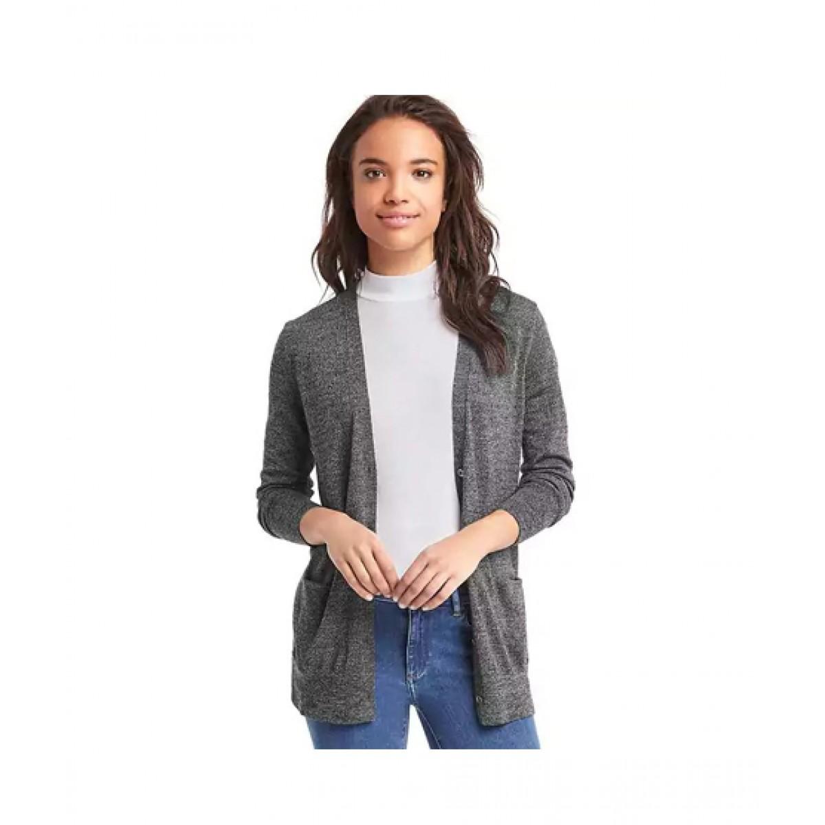 5b3678a163ff01 Gap Wool Cardigan Women's Sweater Price in Pakistan   Buy Gap Merino Sweater  Charcoal Heather   iShopping.pk