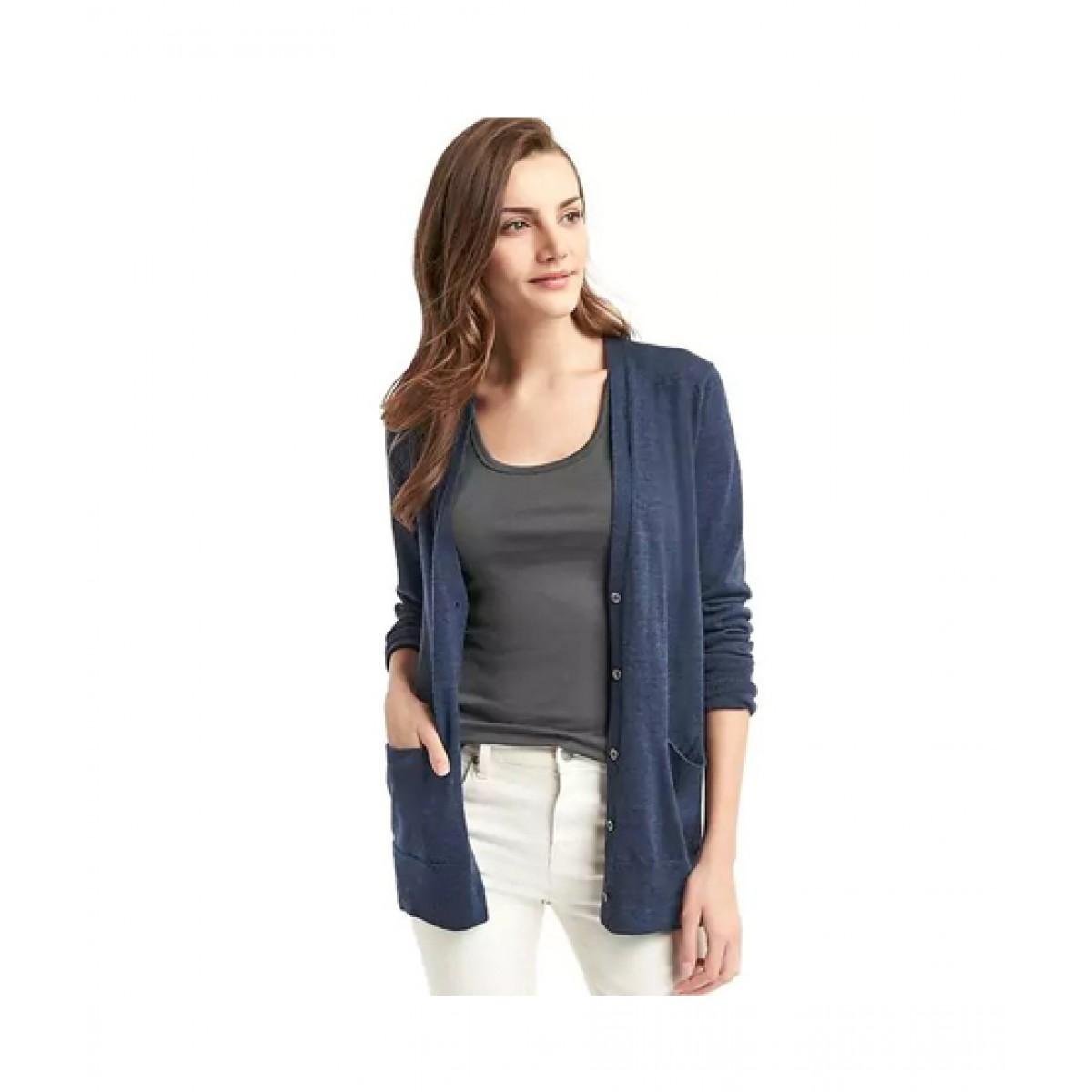 da7a6d0f4cde25 Gap Wool Cardigan Women's Sweater Price in Pakistan   Buy Gap Merino Sweater  Indigo   iShopping.pk