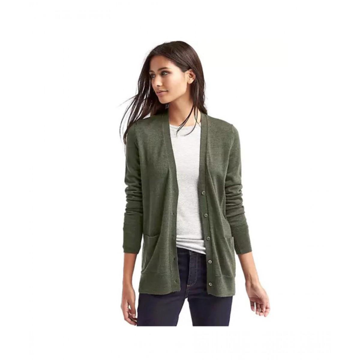 af05deb4507ef6 Gap Wool Cardigan Women's Sweater Price in Pakistan   Buy Gap Merino Sweater  Olive   iShopping.pk