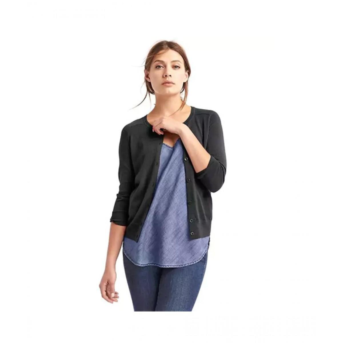 8bef28bd1d3cb1 Gap Wool Crewneck Women's Sweater Price in Pakistan   Buy Gap Merino  Cardigan Sweater True Black   iShopping.pk