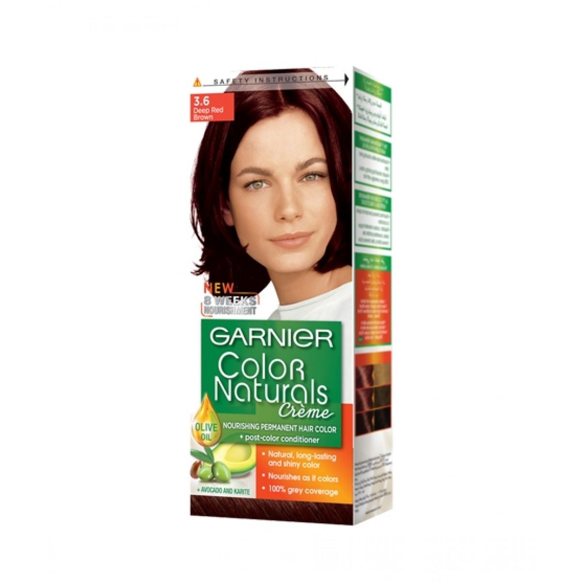 Garnier Color Naturals 3.6 Hair Color Deep Red Brown