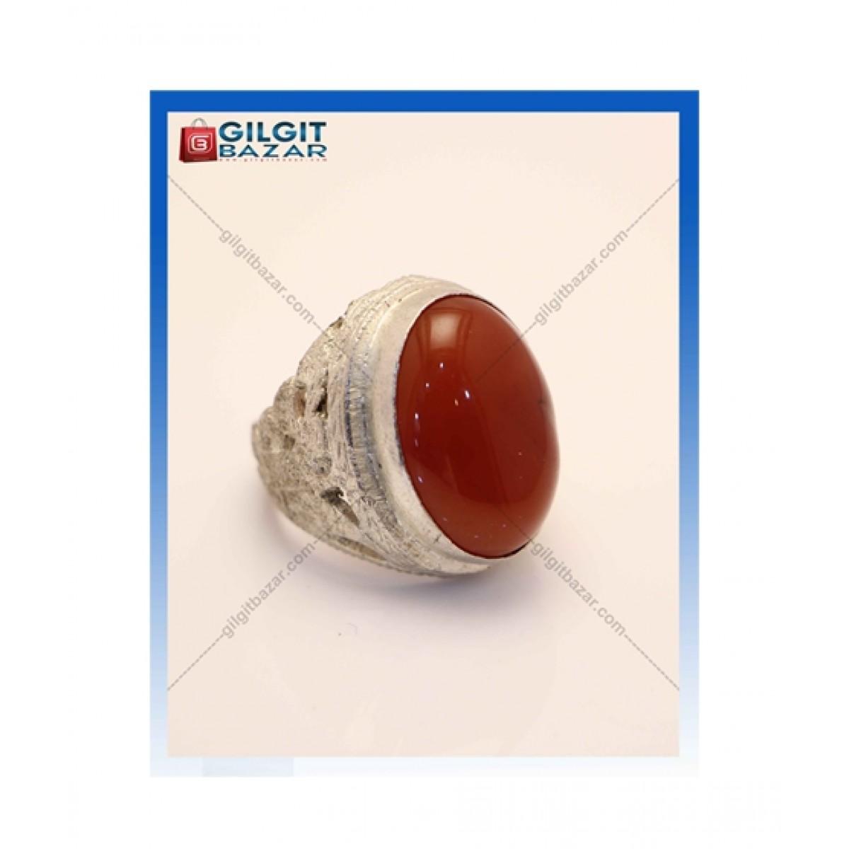 Gilgit Bazar Aqeeq Stone Ring For Men (GB1215)