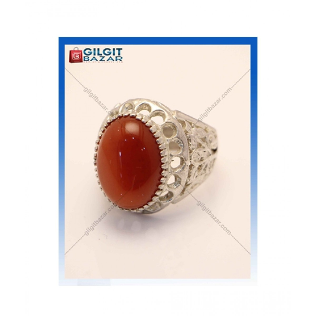 Gilgit Bazar Irani Aqeeq Stone Ring For Men (GB1214)