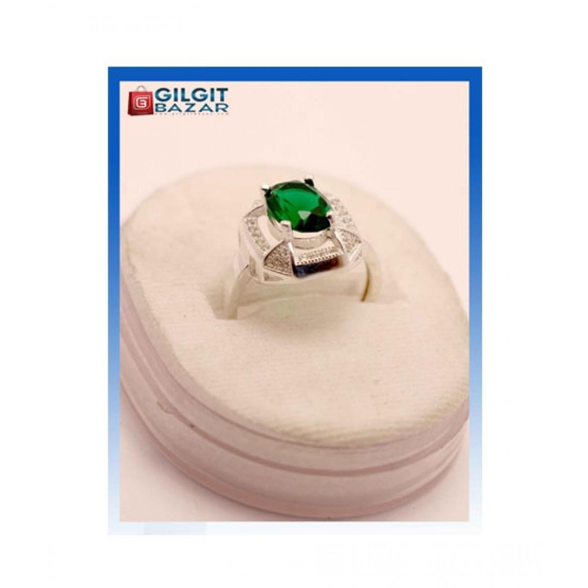 Gilgit Bazar Emerald Zamrud Ring For Women (GB1000)