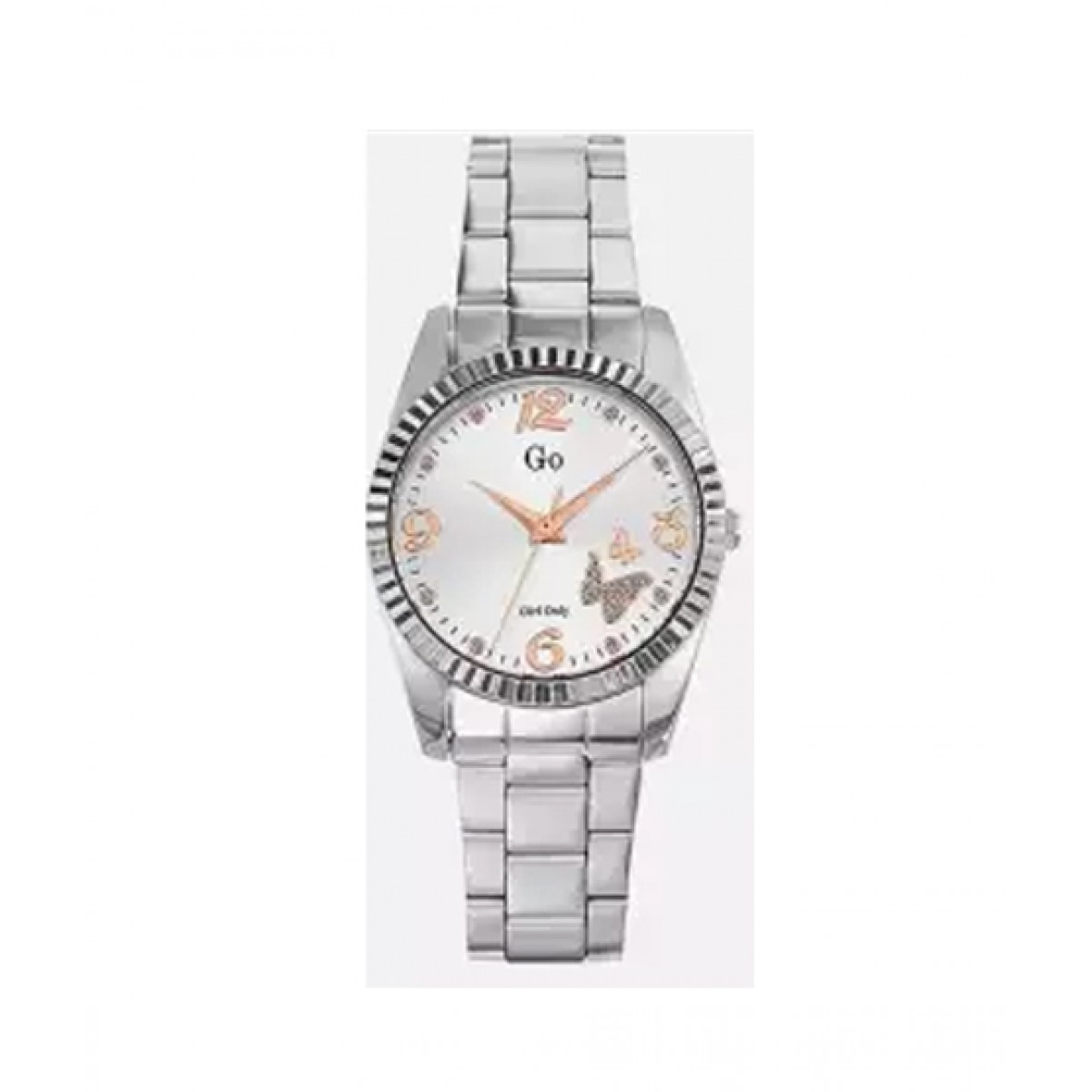 Go Girl Only Sunray Dial Glitter Women's Watch Silver (694923)