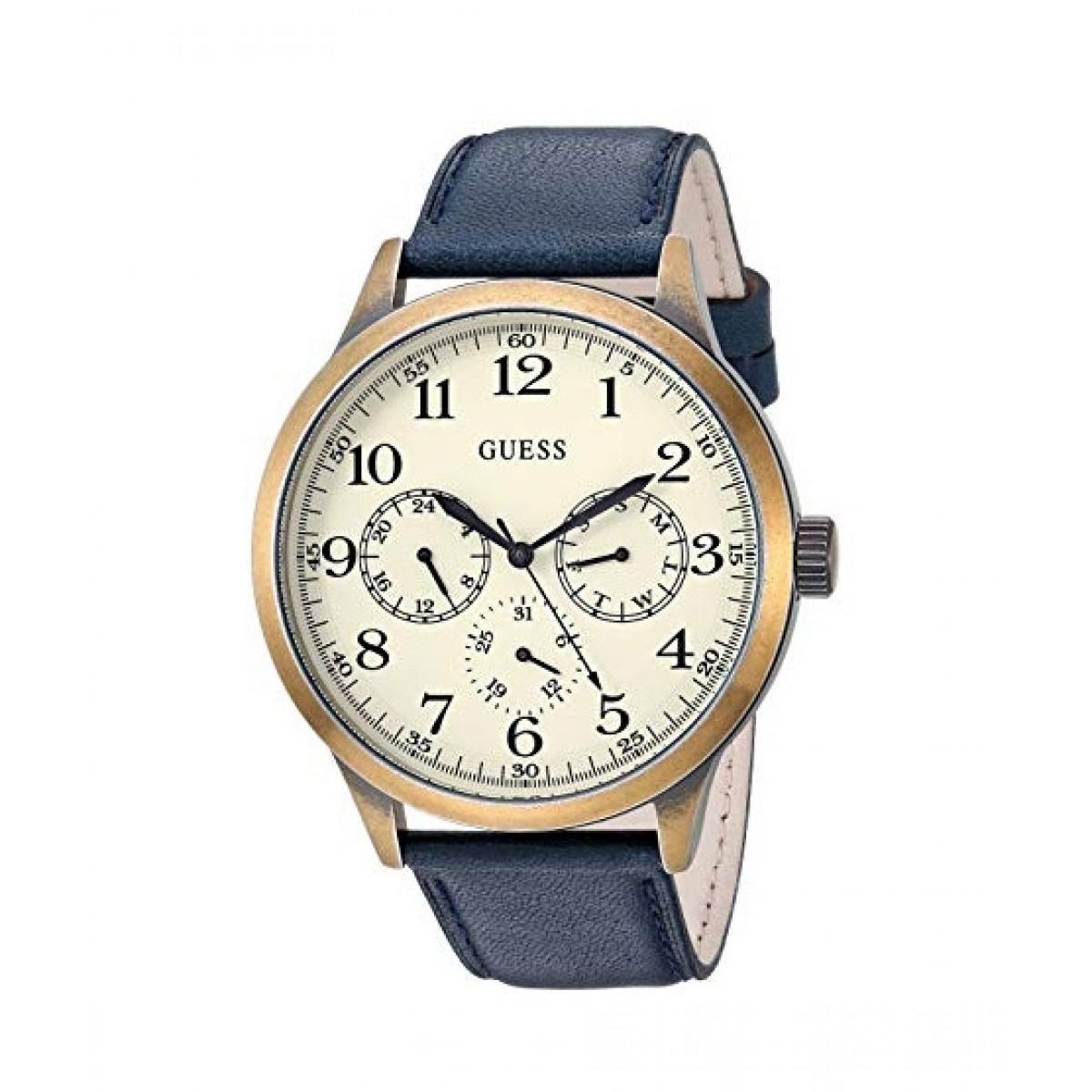 Guess Quartz Men's Watch Gold-Tone (U1101G2)