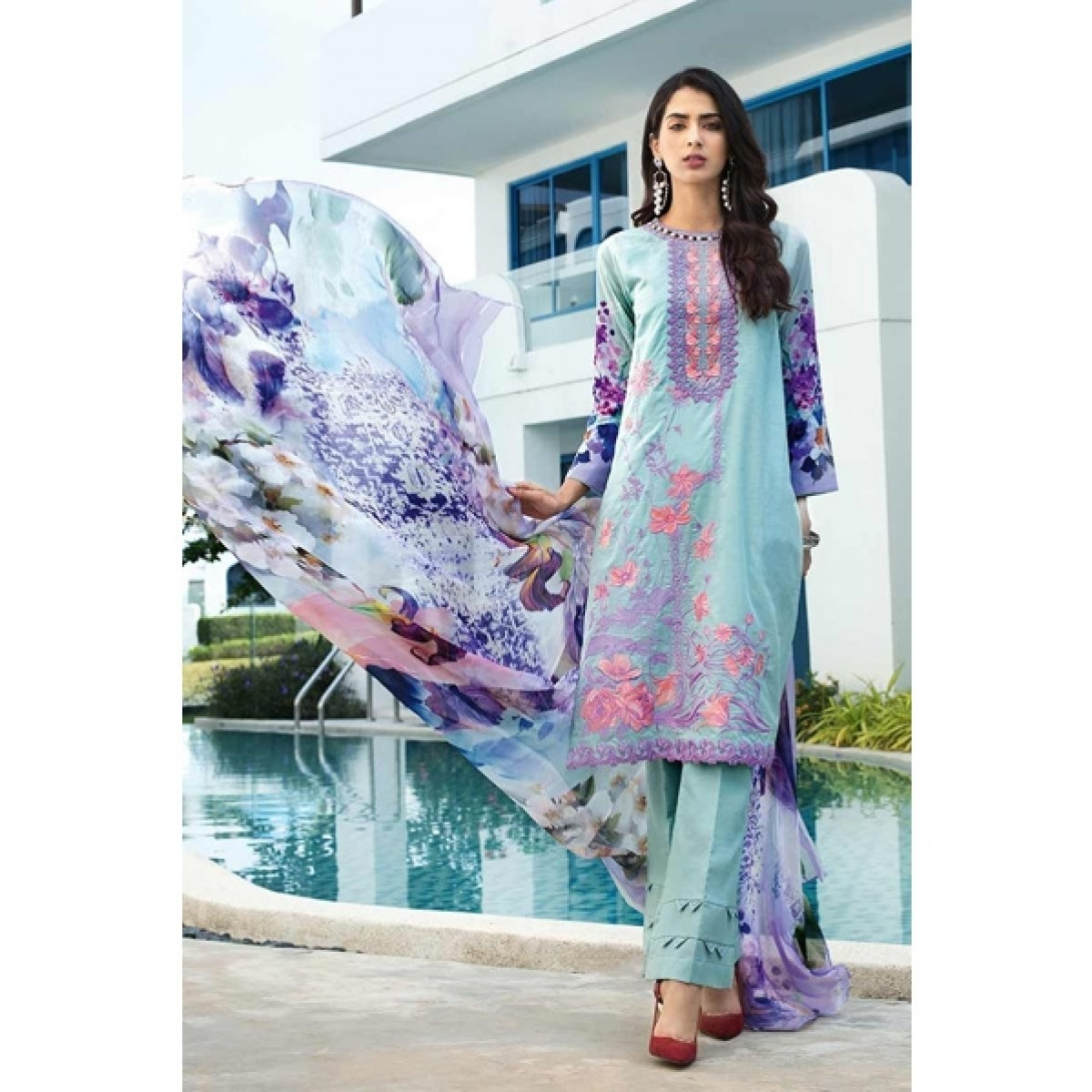 15e07cf3fa Gul Ahmed Women's Summer Premium Lawn Price in Pakistan | Buy Gul Ahmed Lawn  Collection 2019 3 Piece (SSM-11) | iShopping.pk