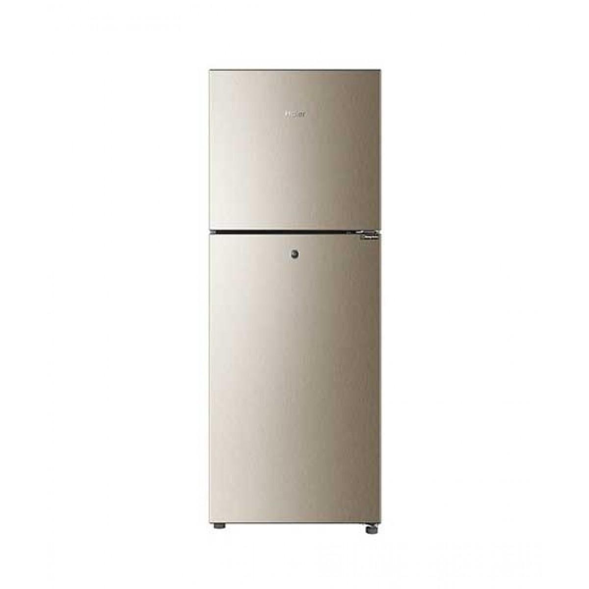Haier E-Star Freezer-On-Top Refrigerator 8.5 Cu Ft Golden (HRF-276EBD)