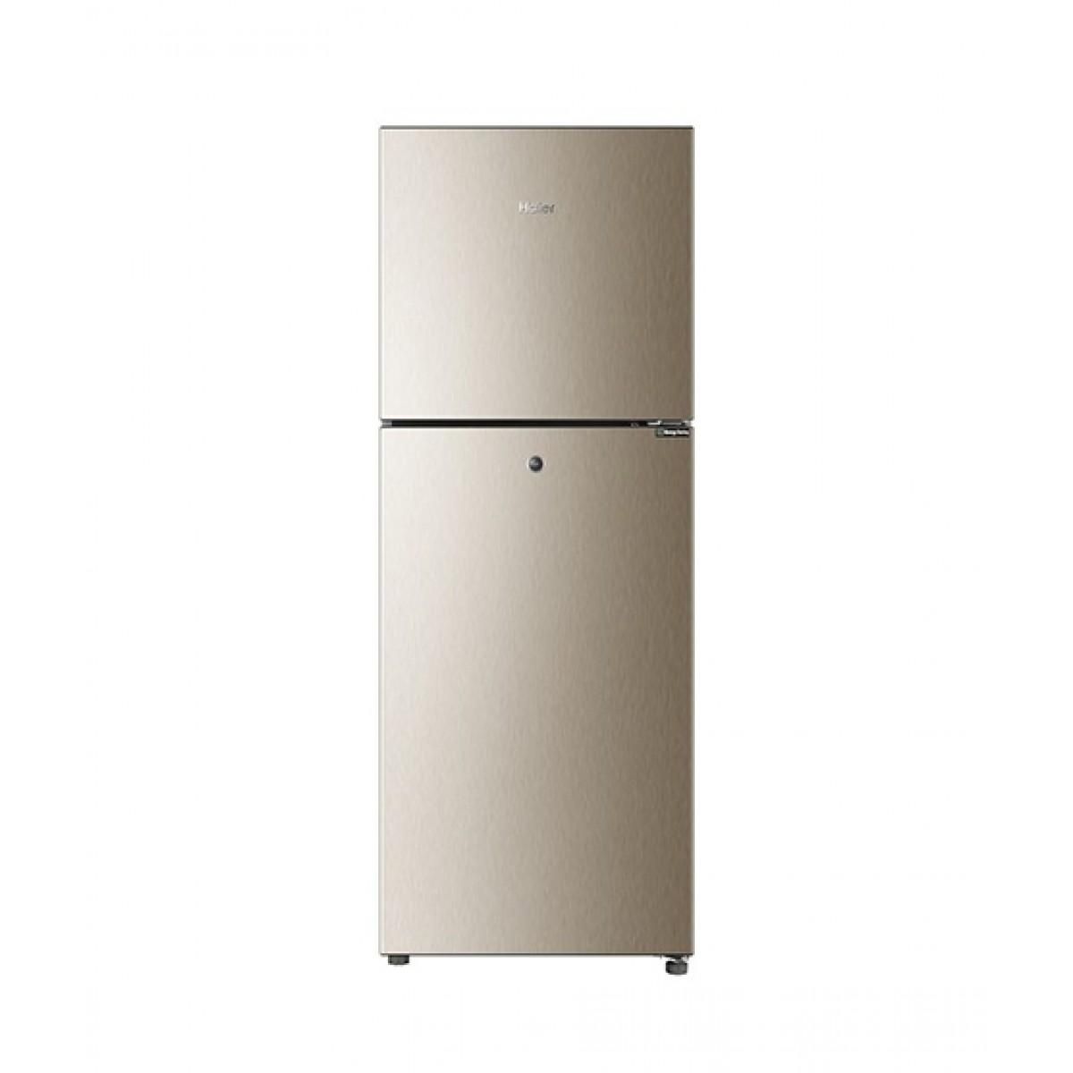 Haier E-Star Freezer-On-Top Refrigerator 7.5 Cu Ft Golden (HRF-246EBD)