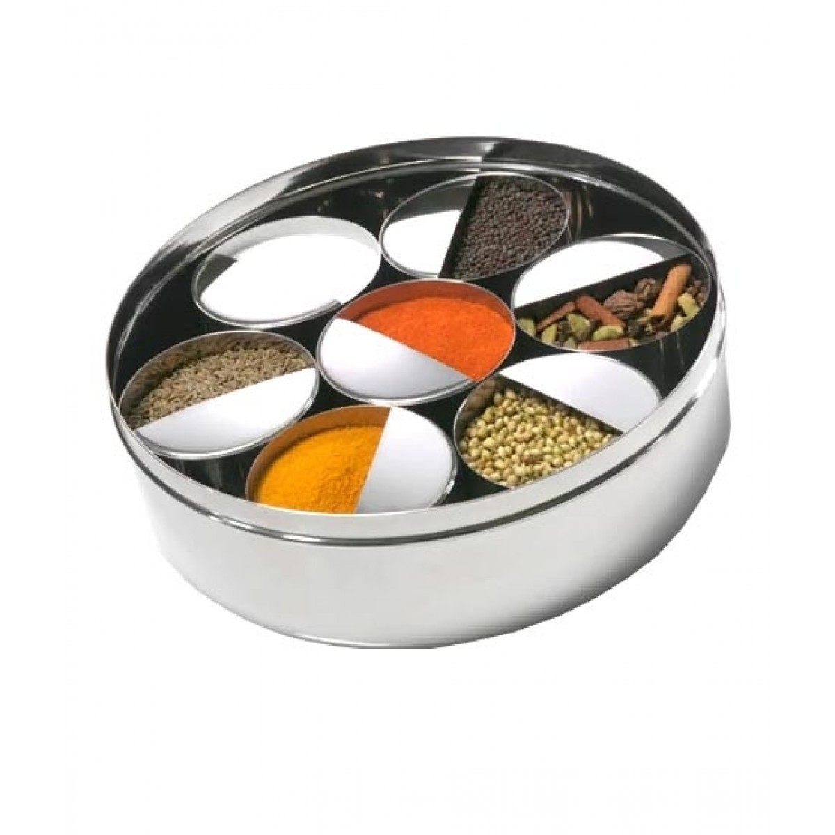 Hakimi Steel Stainless Steel Spice Box Containers (0016)