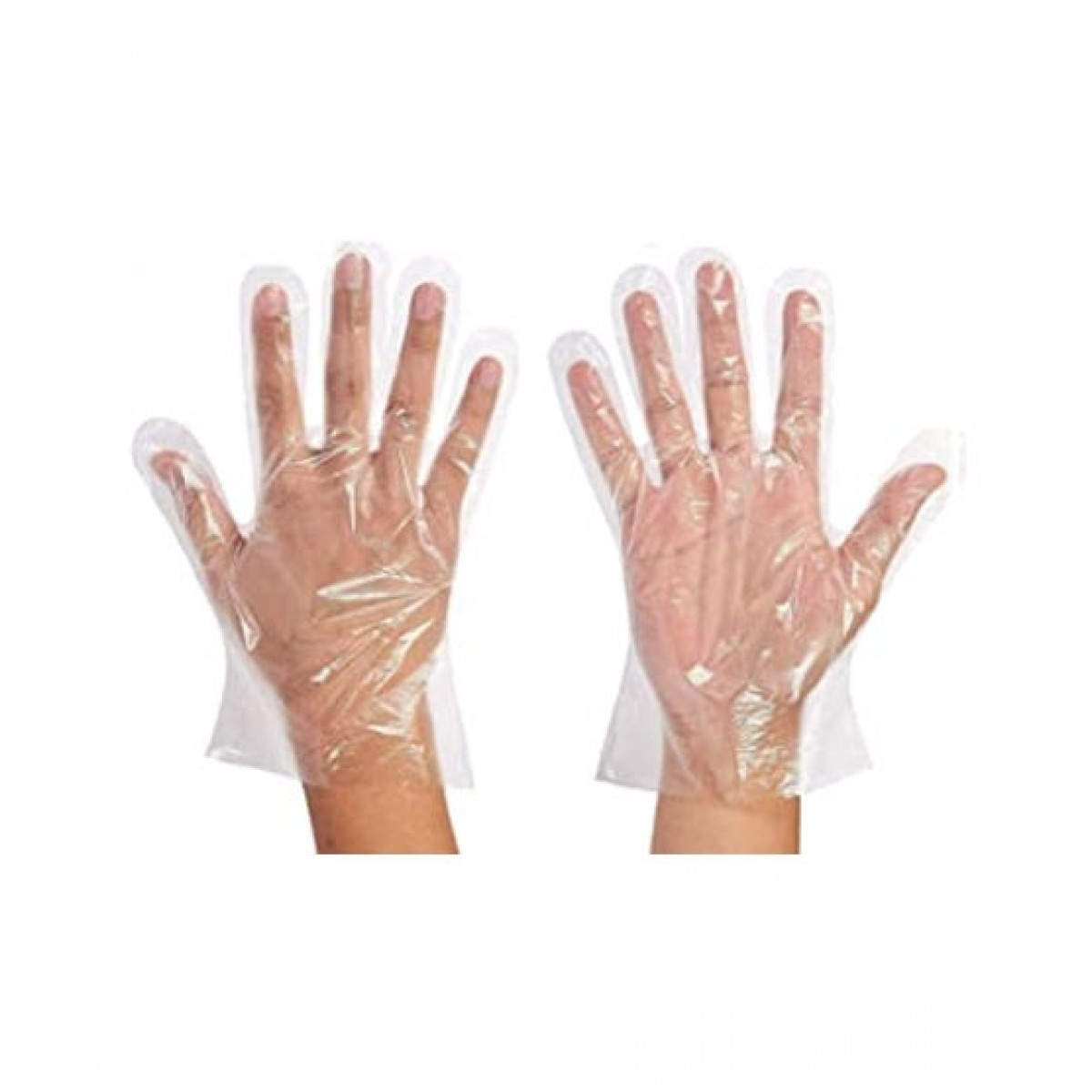 Healthcare Online Disposable Plastic Hand Gloves - 50 Pairs