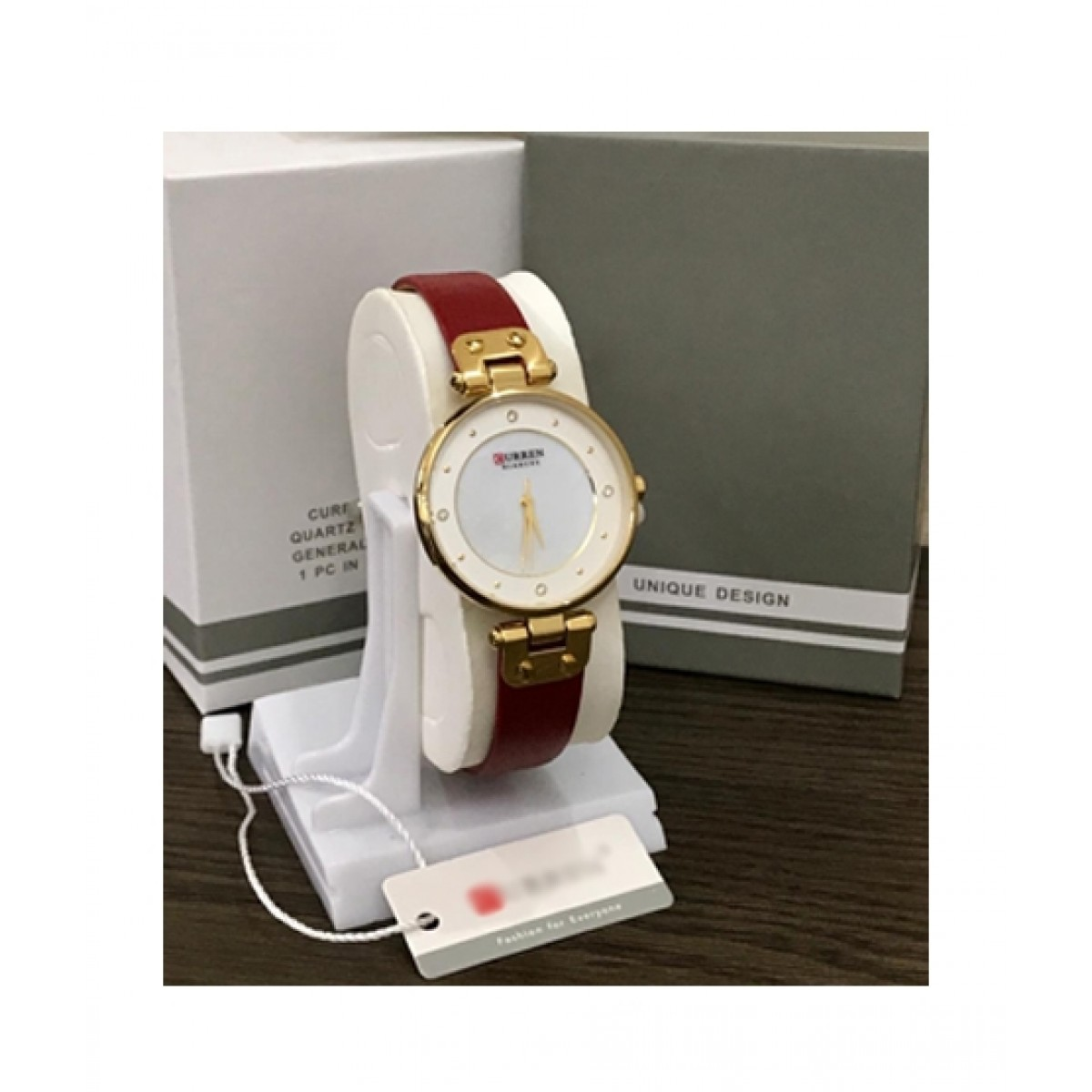 HM Analog Watch For Women Maroon (0033)