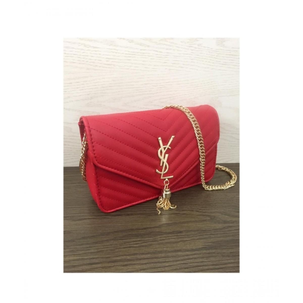 HM Cross Body Bag For Women Red (0018)