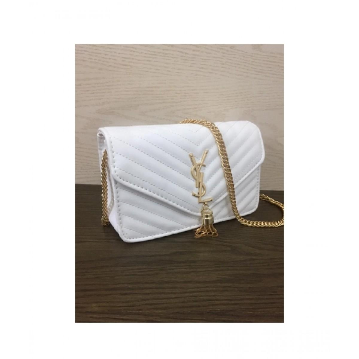 HM Cross Body Bag For Women White (0016)