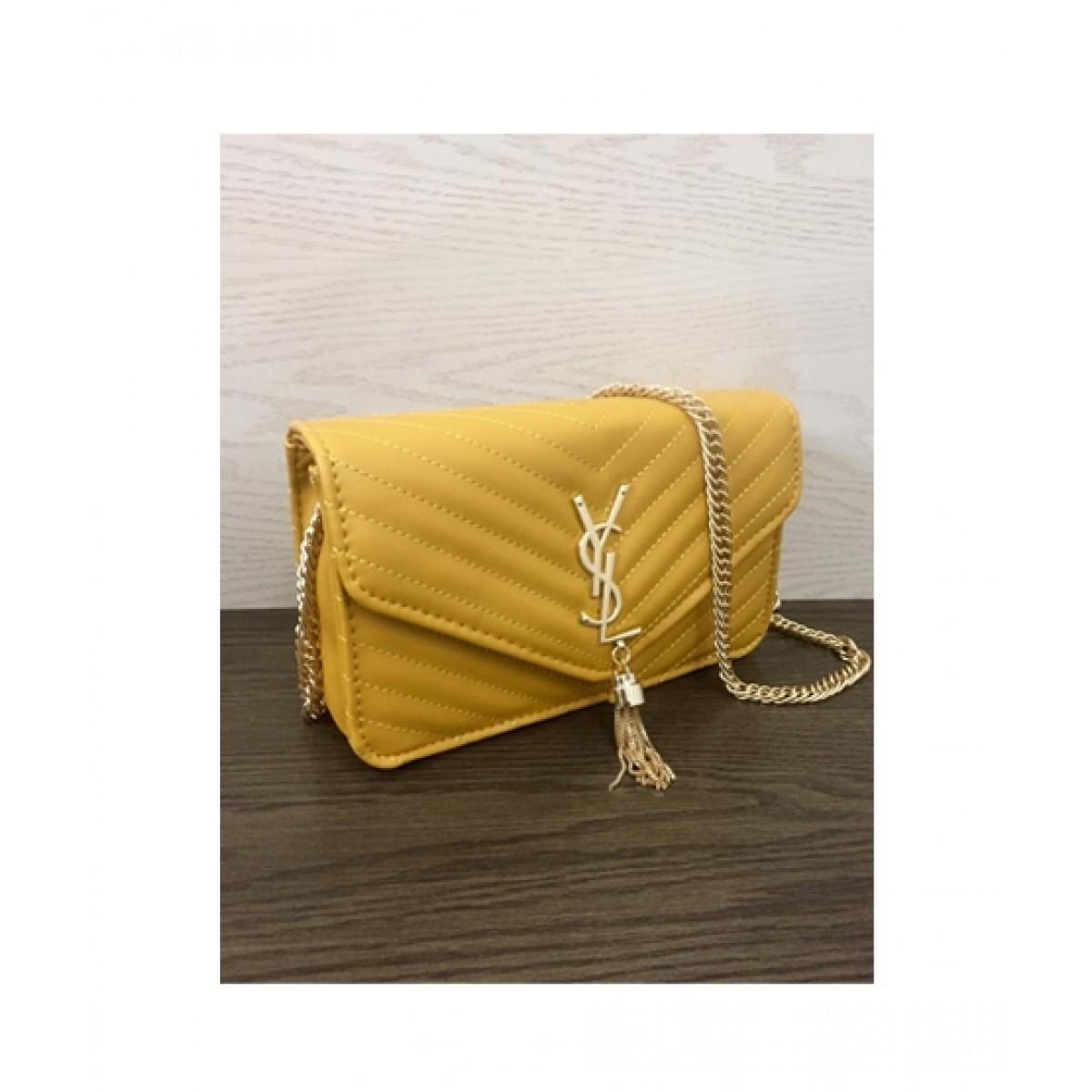 HM Cross Body Bag For Women Yellow (0019)