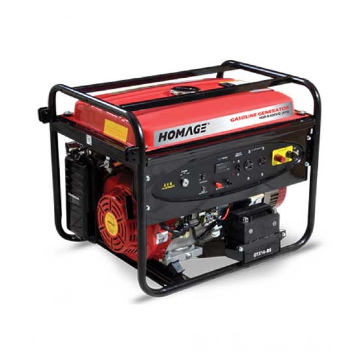 Homage Generator ATS With Wheel+Gas Kit+Oil (HGR-6.02 KV-D)