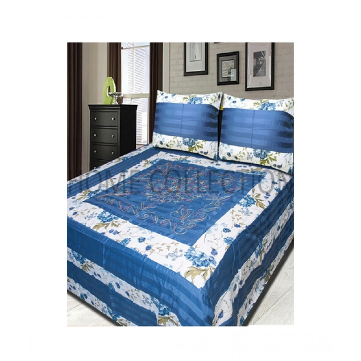 Home Collection Double Bed Sheet Dbap5 Price In Pakistan Buy Home Collection Applique Embroidered Bed Sheet Ishopping Pk