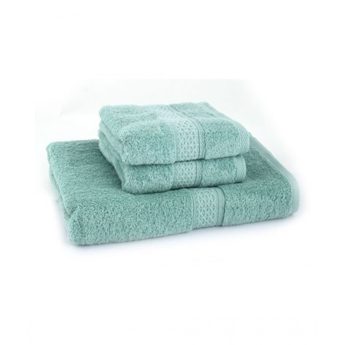 Home N You Fade Resistant Bath Towel Green Pack Of 3