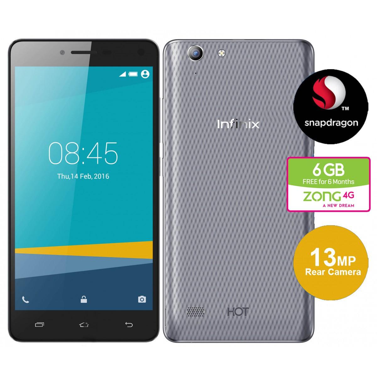 Infinix Hot 3 Pro 4G 2GB Grey (X553)