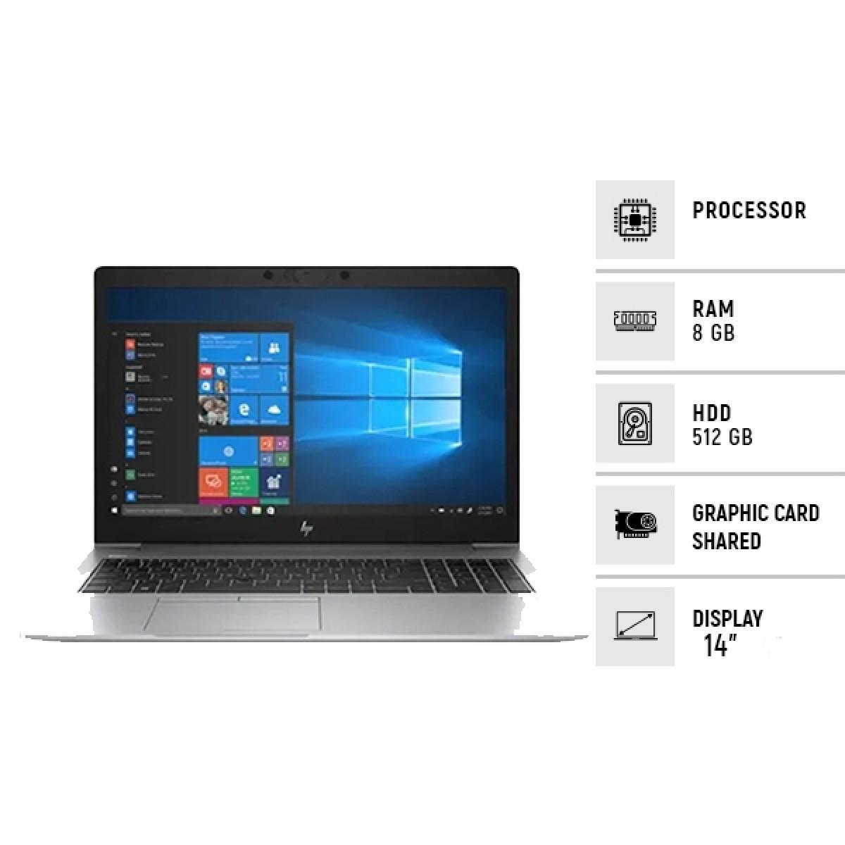 """HP Elite 850 G6 14"""" Core i5 8th Gen 8GB 512GB SSD Laptop Silver - Official Warranty"""