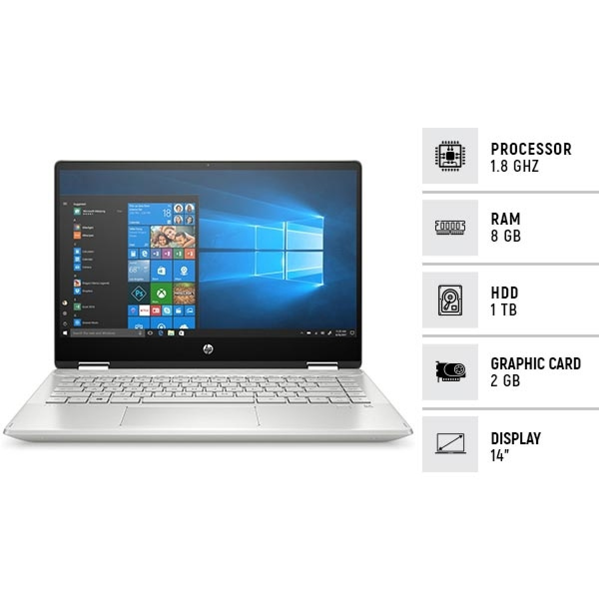 Hp Pavilion X360 Core I7 10th Gen Touch 2 In 1 Laptop Price In Pakistan Buy Hp Pavilion 8gb 1tb Geforce Mx250 Touch 2 In 1 Laptop Natural Silver 14 Dh1008tx Ishopping Pk