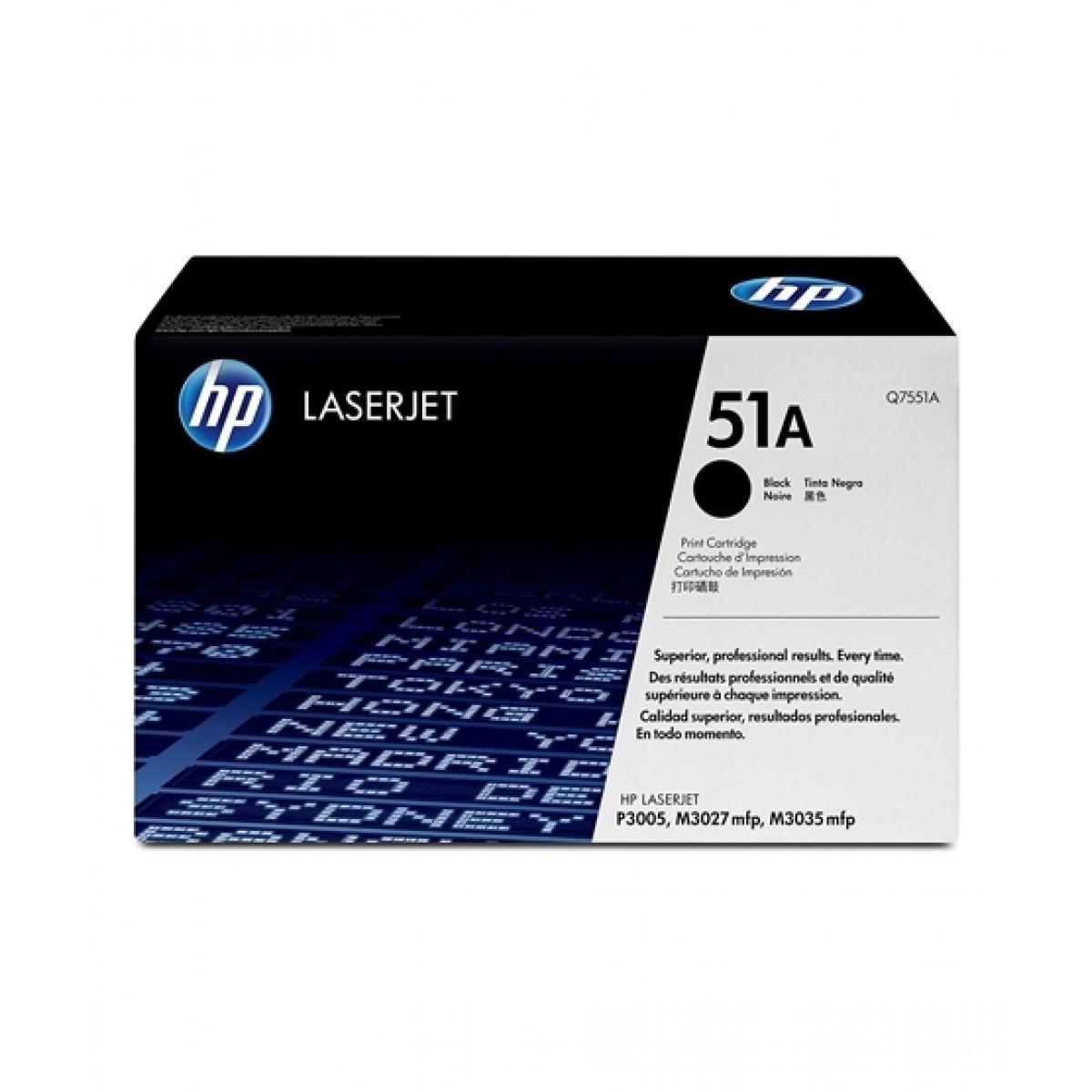HP 51A LaserJet Toner Cartridge Black (Q7551A)
