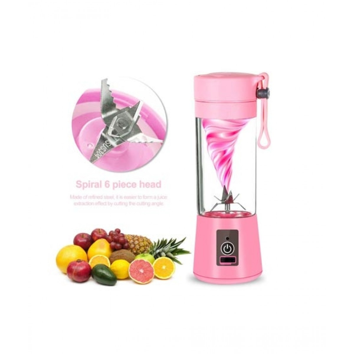 HR Business Portable Juicer Blender Pink (0066)