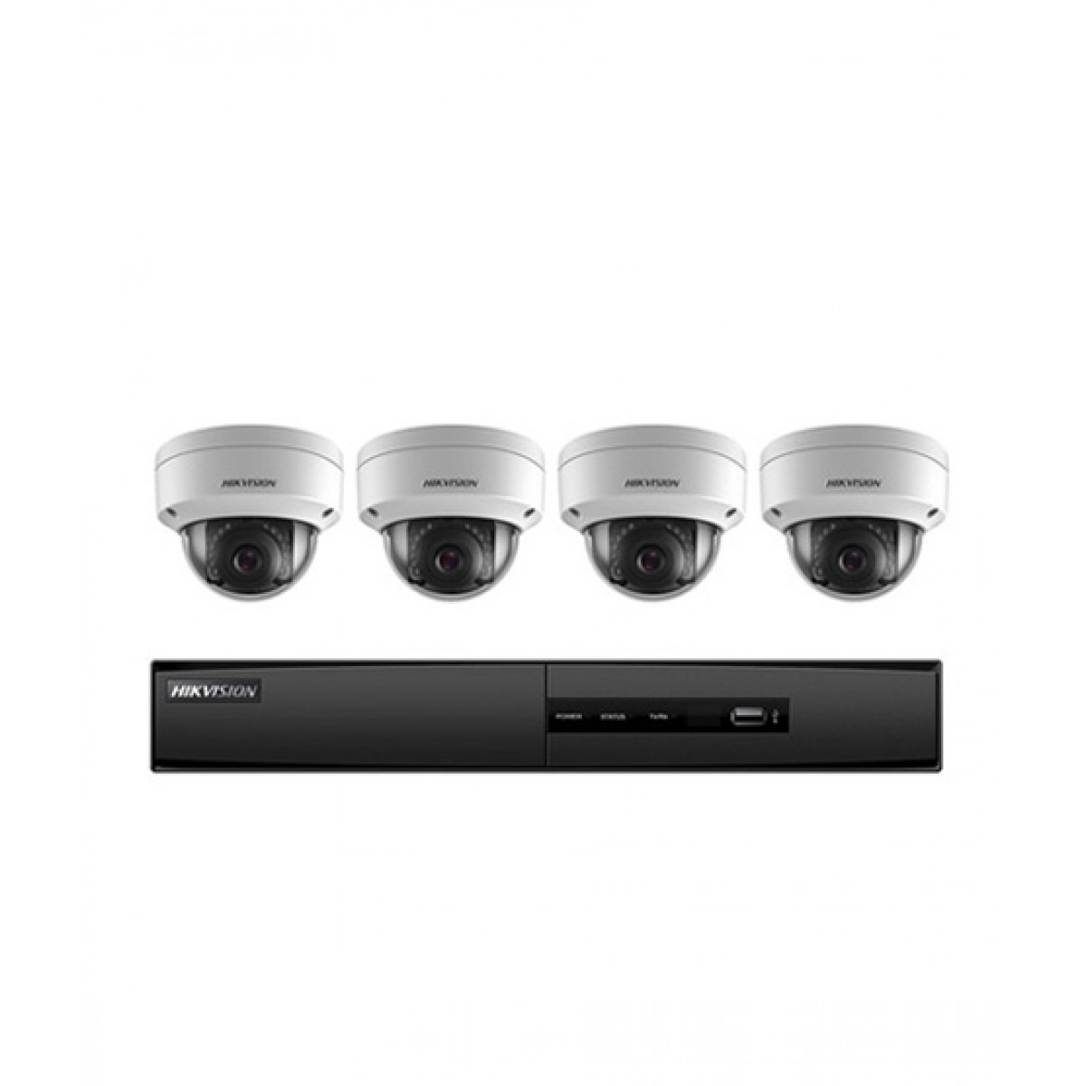 Hikvision Super Value 4 Channel 5MP NVR 1TB HDD & 4 2MP Dome Cameras  (I7604N1TA)